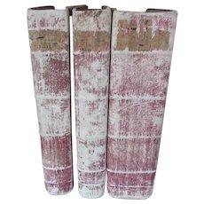 Set of Three Antique books
