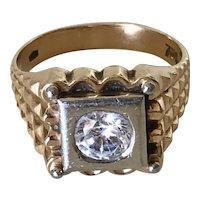 Art Deco 18K Gold Men's Ring