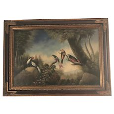 Vintage Tropical Bird Painting