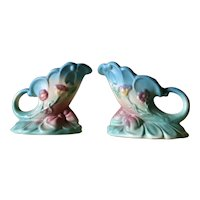 Hull Art Pottery Bowknot Candlestick holders