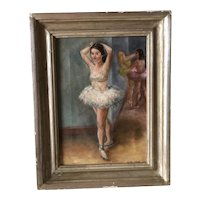 Listed Artist Felicia Meyer Ballerina Painting