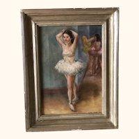 Listed Artist Felicia Meyer Ballerina Painting