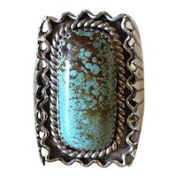 Navajo Turquoise Sterling Ring by Vera Blackgoat