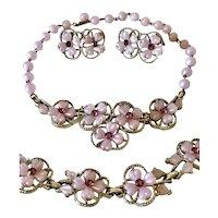 Vintage Kramer Necklace, Bracelet and Earrings