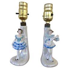 Pair Boudoir Lamps