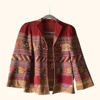 Vintage hand woven peruvian jacket