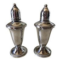 Mid-Century Sterling Silver Weighted Salt & Pepper Shakers