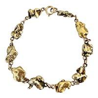 Victorian Gold Nugget and Rose Gold Bracelet