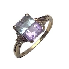 14K Gold Bi-color Tourmaline Ring