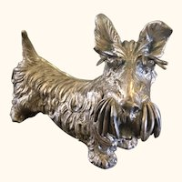 Weidlich Brothers Silver Plate Scottish Terrier Dog Very Rare