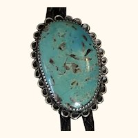 Vintage Navajo Sterling & Turquoise Bolo Tie by James Shay