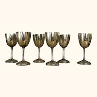 Sterling Silver cordial goblets