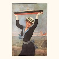 Antique Jan van Beers Poster/Print