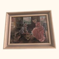 Listed American Artist Frank T Merrill Oil on Board from Boston