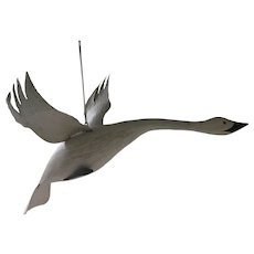 Carved Flying Snow Goose Decoy from F & S