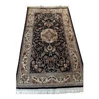 Persian Silk and Lambswool Knotted Rug