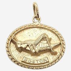 14 Kt Gold Boston Grasshopper Charm