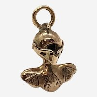 14 Kt Gold Knight Charm