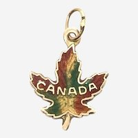 10 Kt Gold Canadian Maple Leaf Charm