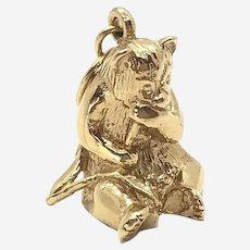 14 Kt Gold Panda Charm