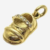 18 Kt Gold Baby Shoe Charm
