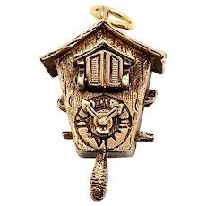 14 Kt Gold Cuckoo Clock Charm
