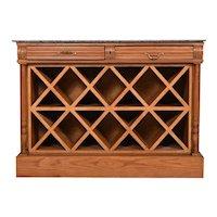 Wine Bar Oak Henry II Style, Granite Top, France 19th Century