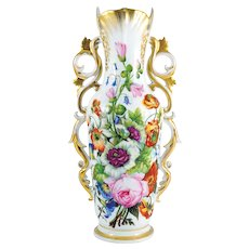 19th Century French hand painted Old Paris porcelain Vase