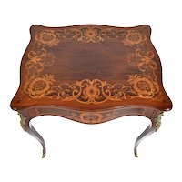 French Table With Marquetry And Ormolu Mounts Louis XV style 19th century