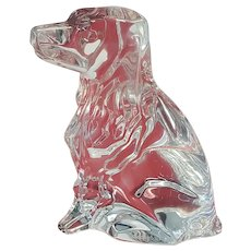 Adorable signed Baccarat COCKER SPANIEL DOG Crystal Mint Excellent Condition