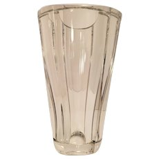 "Baccarat Diane Heavy Lead Crystal Glass Vase 9 7/8"" Tall MSRP 1075"