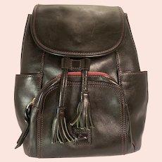 Dooney & Bourke Medium Murphy Backpack Florentine Leather Black-Beautiful Mint