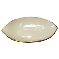 Lenox Ivory Gold Trim/Edge Salt Cellar Nut China Dish Ashtray 2427-X401 Free Shipping