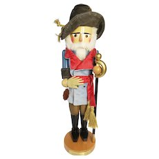 Rare Signed 19 inch STEINBACK General Robert E Lee 2005 Nutcracker Nut Cracker Markings Stamps Christian Steinback Signature Limited Edition