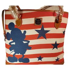 VHTF Dooney & Bourke Disney Mickey Americana Shopp 2018 Tote New in package