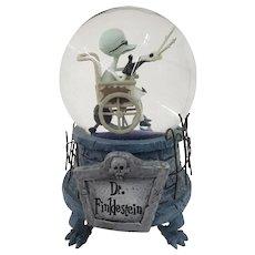 1993 Disney Tim Burton The Nightmare Before Christmas Dr Finklestein Musical Snow Globe Snowglobe