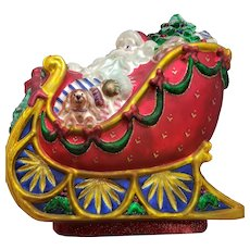 Rare Mint condition Waterford Holiday Heirlooms Sleigh Centerpiece #130853 2004 Limited Edition 468/10000