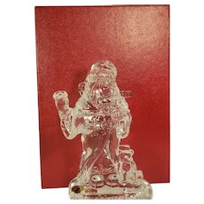 "Waterford Crystal 7.5"" 2000 Millennium Santa designed David Grant with Box & COA"