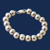925 Sterling Silver Large Bead Bracelet