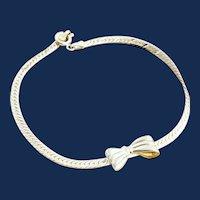 925 Sterling Silver Flat Chain Herringbone Bracelet