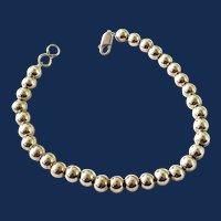 Ladies Sterling Silver Round Beaded Bracelet