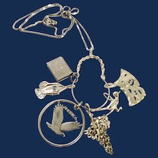 Sterling Silver Charm Holder Necklace