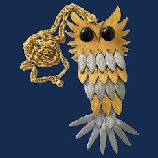 Large Reticulated Owl Statement Necklace
