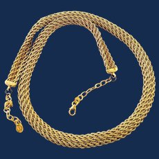 14k Gold Vermeil Sterling Silver Thick Ladies Gold Chain