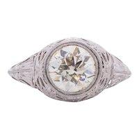 Circa 1901 Edwardian Platinum 2.19Ct Diamond Engagement Ring -#1900721734