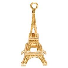 Paris Eiffel Tower 3D 18K Yellow Gold Charm -#1900722123