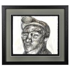 Jack Crabtree b.1938. English. Welsh Miner. Mixed Media. Framed.