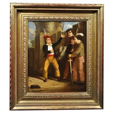 William Collins 1788 - 1847. English. The Storyteller, 1843. Oil on Canvas. Framed.
