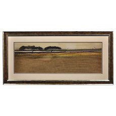 Roger Cecil 1942 - 2015. Welsh. Landscape Study, 1964. Watercolor. Framed.