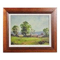 Arthur Spooner 1873 - 1962.  English. Rural Derbyshire. Oil on Card. Framed.